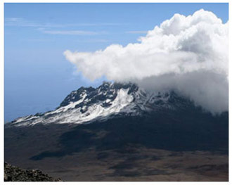 Kilimanjaro in the clouds