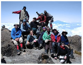 Mount Kilimanjaro hikers