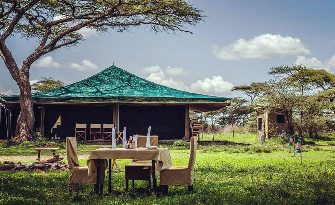 Tanzania tent accommodations